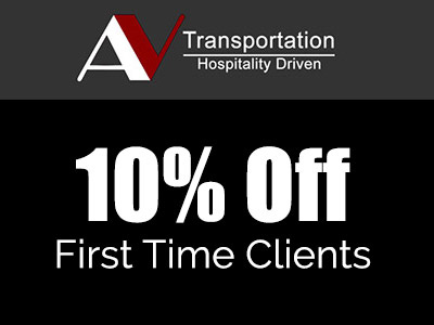 10% off first limousine ride for first time clients.