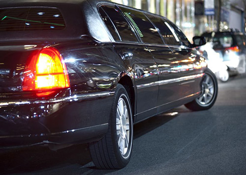 Limousine at night time
