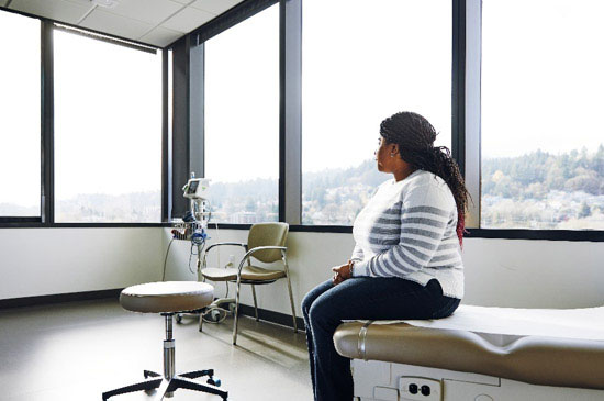 Patient at a Doctor Appointment Waiting for Treatment