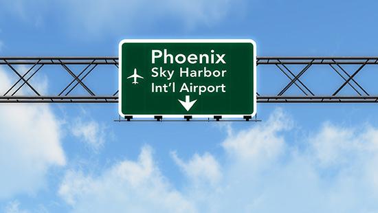 Phoenix Sky Harbor Airport Highway Sign